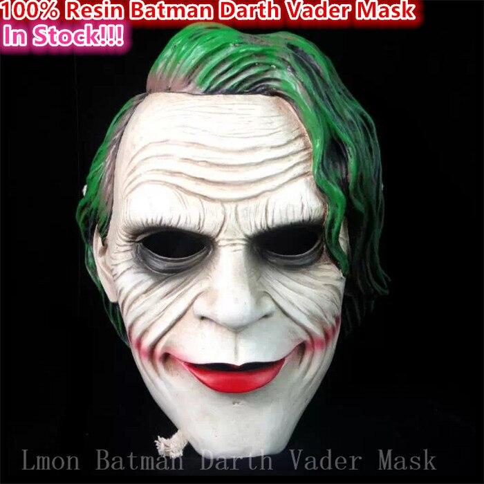 Chaud!!! nouveau 2016 Halloween partie Cosplay film Batman masque réaliste résine dark vador masque effrayant horreur film masques livraison gratuite
