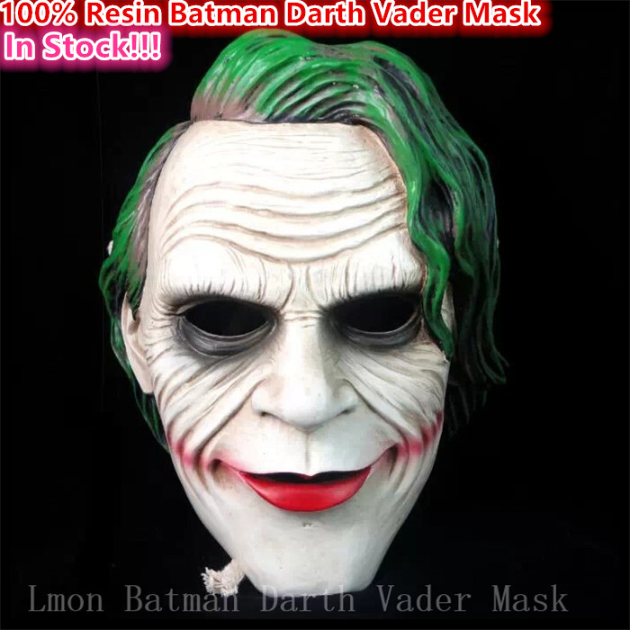 Hot!!!New 2016 Halloween Party Cosplay Movie Batman Mask Realistic Resin Darth Vader Mask Scary Horror movie masks Free Shipping image