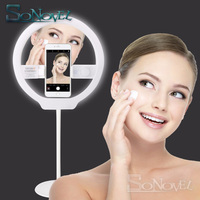 YONGNUO YN128 II Photography LED Ring Light with Makeup Mirror Bicolor Beautify LED Selfie Lamp for Samsung iPhone X 5S 6 7 8