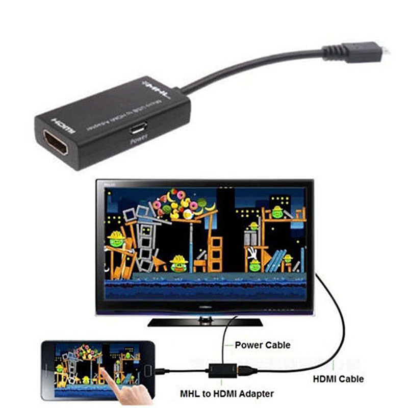 MHL Micro USB to HDMI HD TV Adapter Cable For Xiaomi 2 2S Huawei VCY95 P18