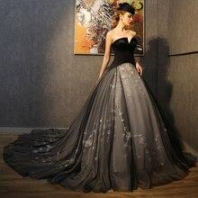 Lange Gothic Hochzeit Kleid