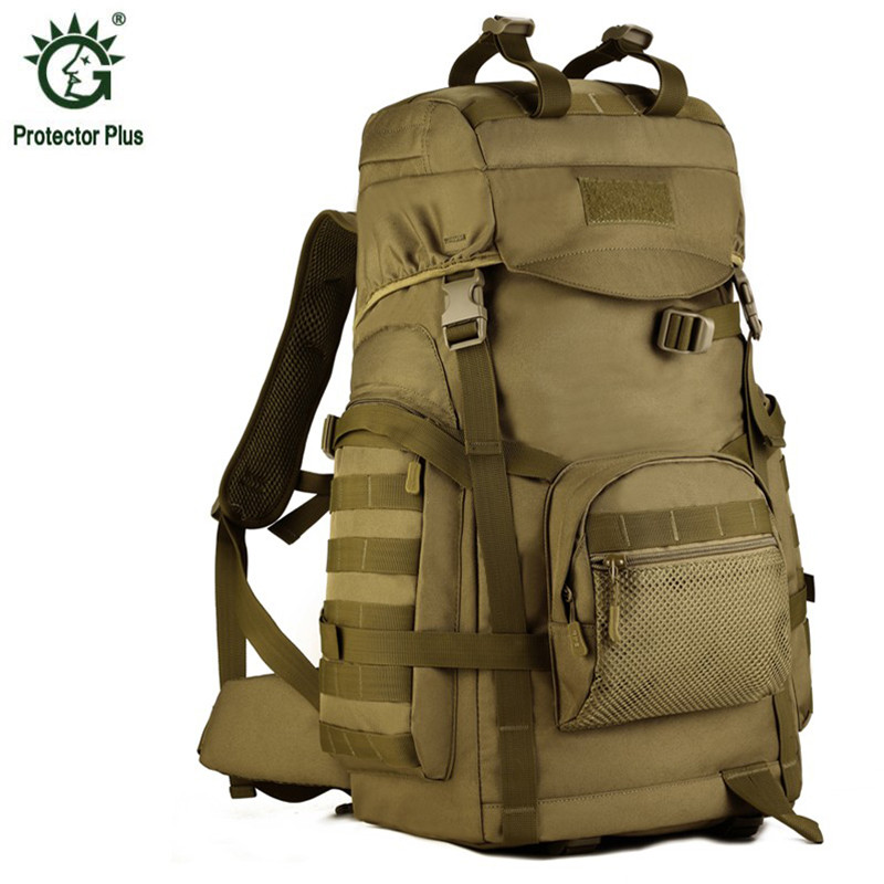 60L Men's Women Backpack Fashion Female Waterproof Nylon Travel Rucksack Casual Male Military Bagpack Hike Laptop Bags 2017 S21 30l men s women military backpacks waterproof nylon fashion male laptop backpack female travel rucksack camouflage army hike bag