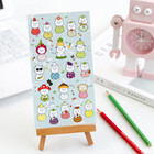 2 Sheets Cartoon Animal Lovely Funny Jamong Cat Decoration Adhesive Stickers DIY Decoration Stickers Label Stationery Gifts