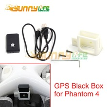 Phantom 4 GPS Black Box Locator with Mounting Bracket Holder Audio Video Position Feedback Lost & Found for DJI Phantom4