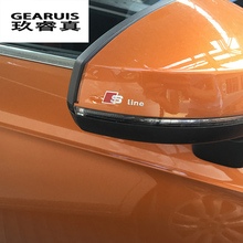 5PC S Line Logo Car Styling rearview mirror Windows Sticker For Audi Sline A4 B8 A3 A6 C5 C6 A3 A5 Q5 Q7 Q3 TT A1 Armrest S-line