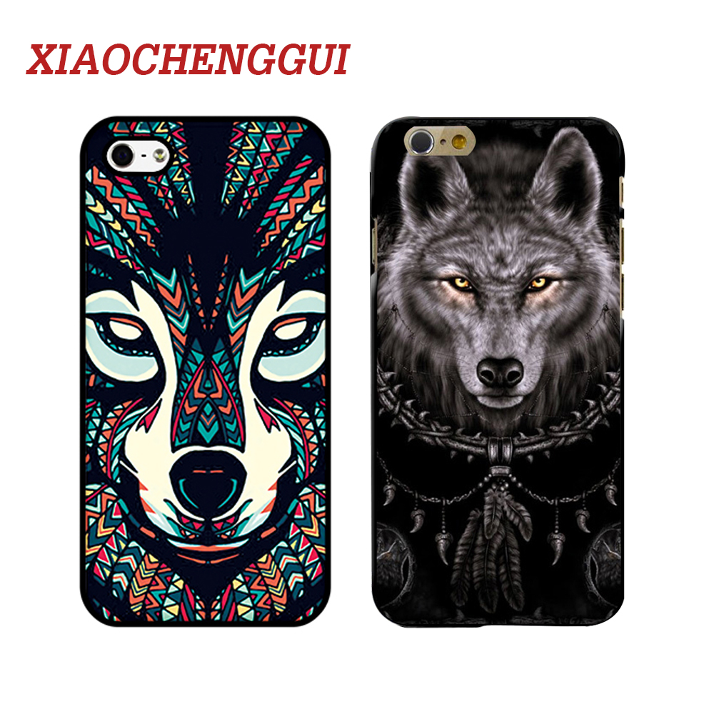 XIAOCHENGGUI Animal wolf Phone Hard Plastic Case Cover For