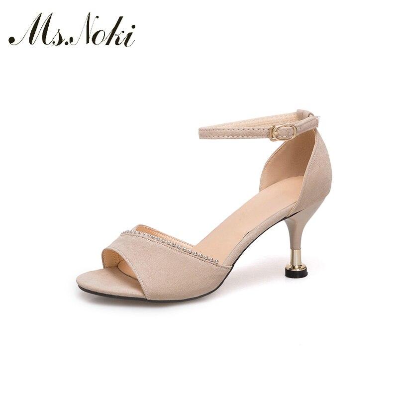 2018 Women Slippers Summer Buckle Strap Elegant Heel Print Flip Flops Sandals Woman Ladies Flats Shoes sapato feminino Ms.Noki