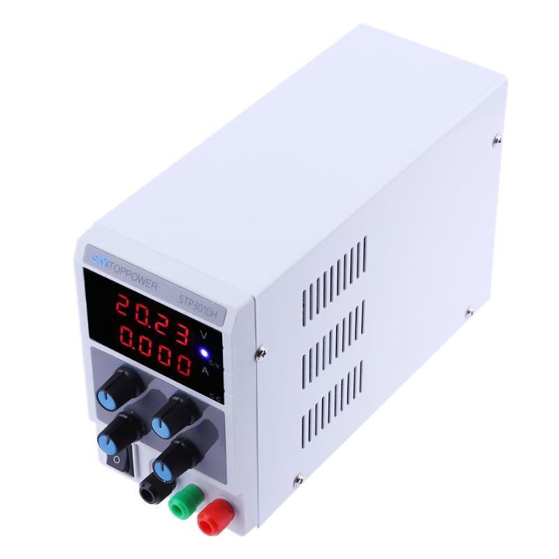0-30V 0-10A Adjustable Digital Display DC Power Supply Switching Power Source voltage regulator 4 Bit Digital Display (EU) mini adjustable dc power supply laboratory power supply digital variable voltage regulator 30v10a four display ps3010dm