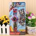 Fashion Kids 24 projection The Avengers cartoon watch  children wristwatches clock girl  boy gift G10489
