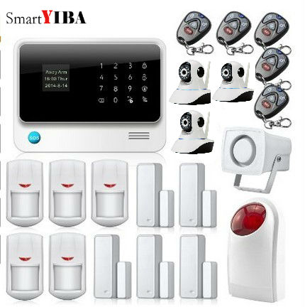 SmartYIBA Wireless Phone App GSM font b Alarm b font System Remote Control Red Strobe Siren