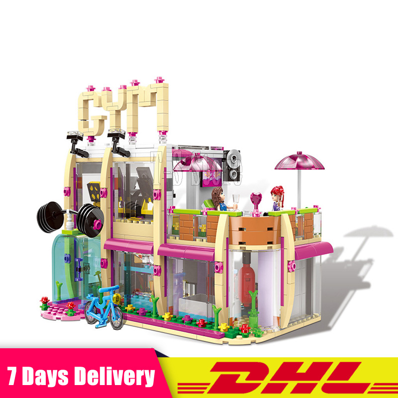 DHL XINGBAO 12002 905Pcs City Girl Series The Gym Club Set Building Blocks Bricks Model Toys For Children Birthday Gifts wange mechanical application of the crown gear model building blocks for children the pulley scientific learning education toys