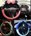 Best Quality Cute Cartoon Stitch Car Steering Wheel Cover Plush Universal Auto Steering Cover 14 designs