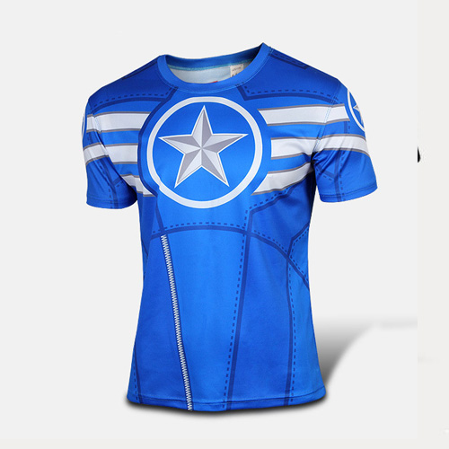 2016 Captain America 3d printed t shirt men/women short sleeve t shirt  high quality t shirt men