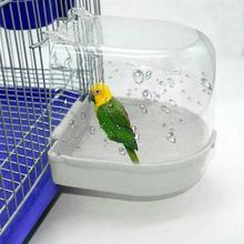 Новинка, коробка для ванны с птицами, аксессуары для чистки птиц, аксессуары для ванны с попугаем, прозрачная пластиковая подвесная Ванна для душа