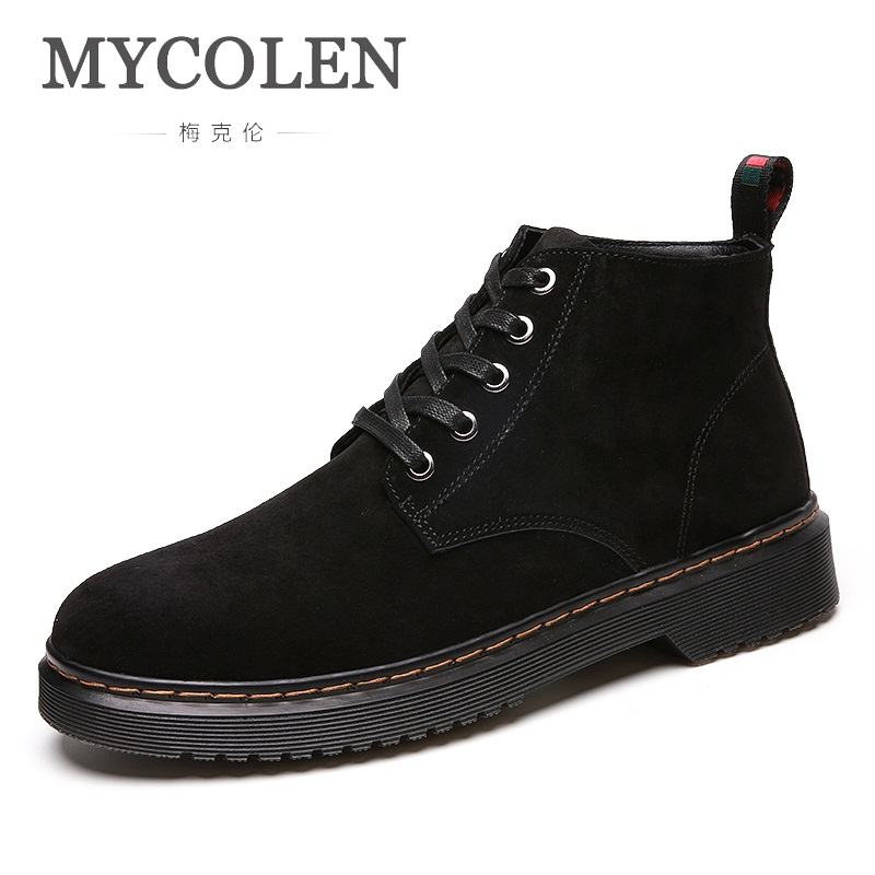 MYCOLEN New Arrivals High Top Winter Shoes Luxury Brand Top Fashion Fashion Men Boots Ankle Boots For Male Bota Masculina Couro