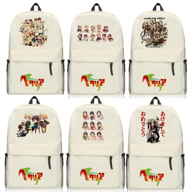 Anime Axis Powers Hetalia APH Printing Backpack Women Bagpack School Bags Rucksack Laptop Fashion Shoulders Package 7 style цены онлайн