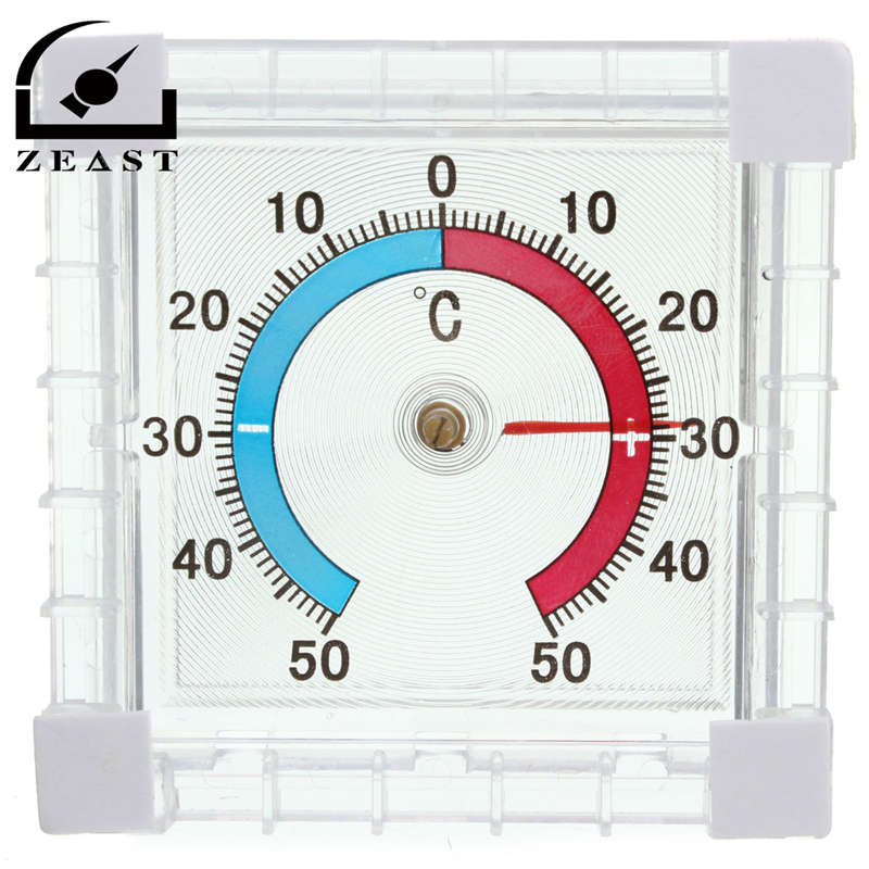 Window Indoor Outdoor Wall Greenhouse Garden Home Office Temperature Thermometer