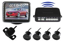 """602-W wireless rearview system with 3.5"""" TFT LCD monitor+4pcs 22mm ultrosonic sensors car video parking sensor system"""