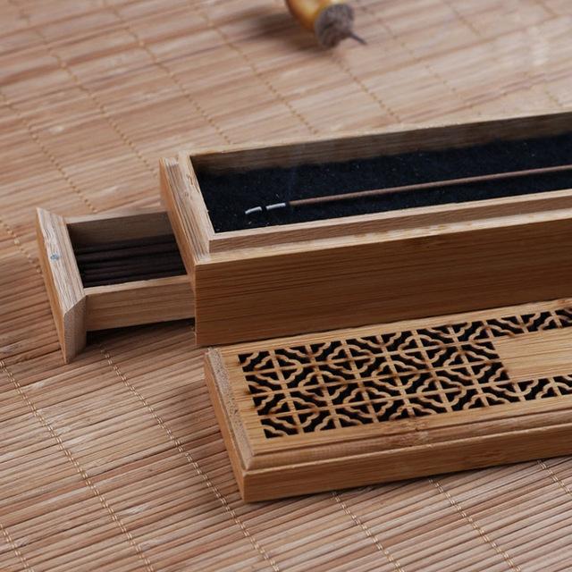 Chinese Bamboo Burner Incense Sticks Holder