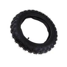 Neumático de goma para patinete, tubo interno para CRF50 XR50 PW50 Peewee, neumático de moto eléctrica, color negro, 2,50x10