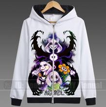 Japão HOT Jogo Undertale Casaco Esqueleto Unisex Zipper Hoodies Anime Cosplay