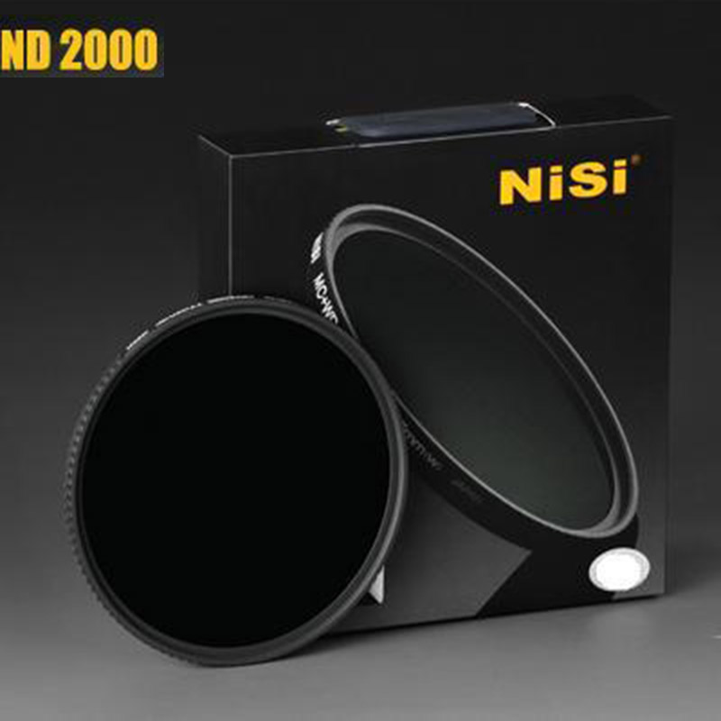 NISI ND2000 nd filter 67mm 72mm 77mm 82mm ultra-thin neutral density lens for canon nikon sony leica slr DSLR camera lens filter nisi ultra thin 77mm nd2000 nd neutral density filter 11 stops exposure nd 2000 super slim filter 77 mm