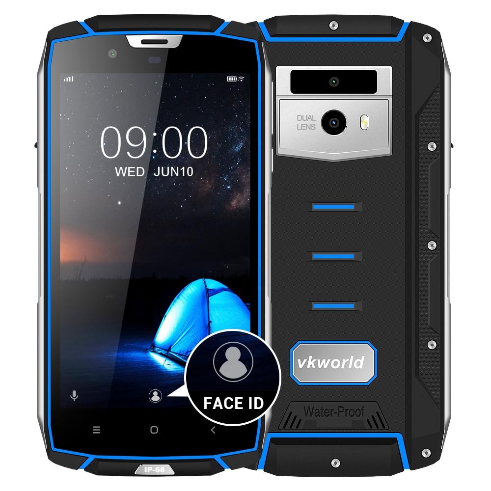 Vkworld VK7000 IP68 Étanche Smartphone 5.2 MTK6750T Octa Core 4 gb RAM 64 gb ROM Android 8.0 5600 mah 13MP D'empreintes Digitales 4g Téléphone