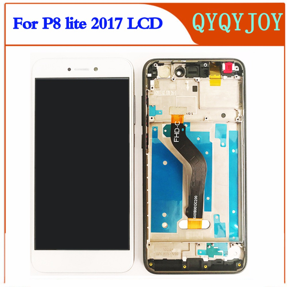 Q&Y QYJOY For Huawei P8 Lite 2017 LCD Display+Touch Screen Digitizer Assembly Replacement Glass  PRA-LA1 PRA-LX1 PRA-LX3