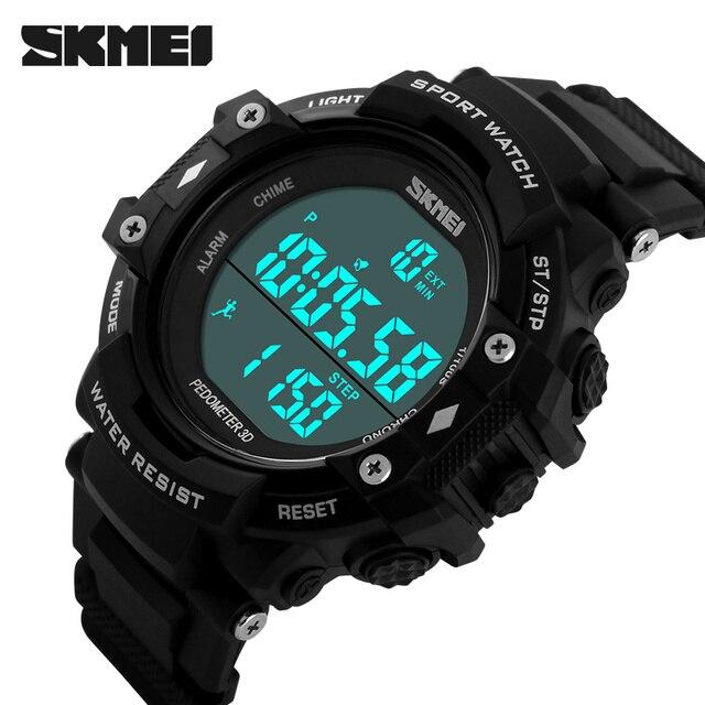 Мода Skmei спортивный бренд часы мужские цифровая ударопрочный электронный наручные часы открытый военный из светодиодов свободного покроя часы