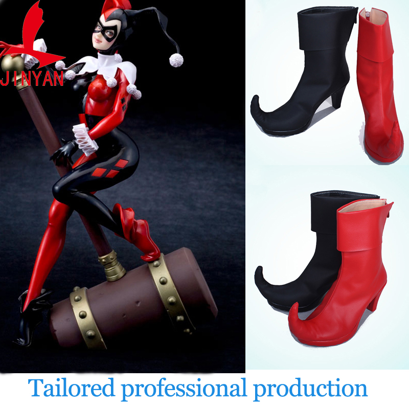 bd572603dce280 2017 special sale New Batman DC Comics Suicide Squad Harley Quinn boots  accessories Movie Halloween Party Cosplay Costumes shoes