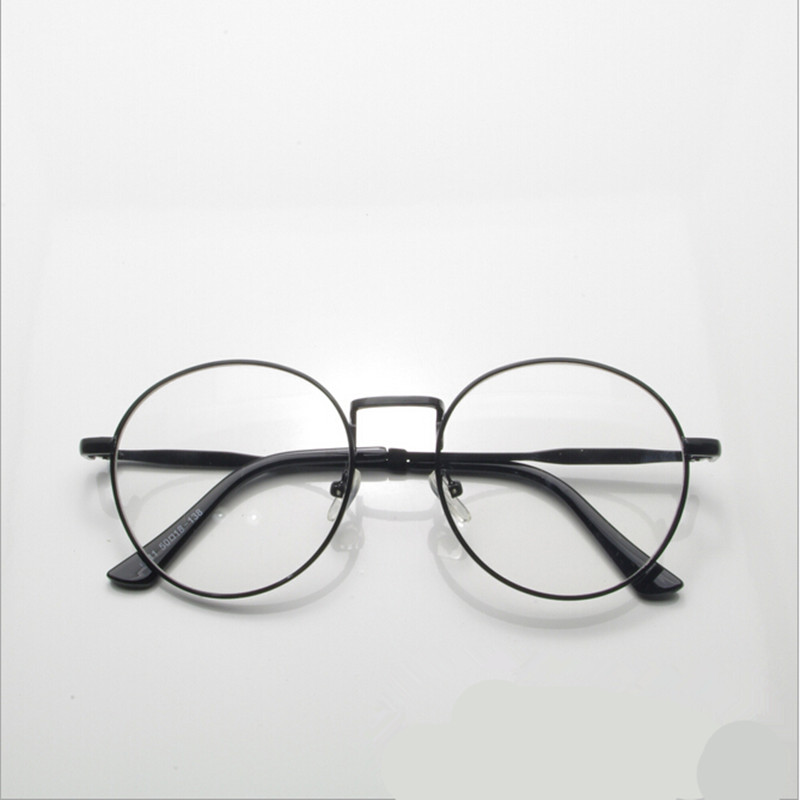 new high quality antique retro round eyeglasses metal frame men large vintage round glasses frames women