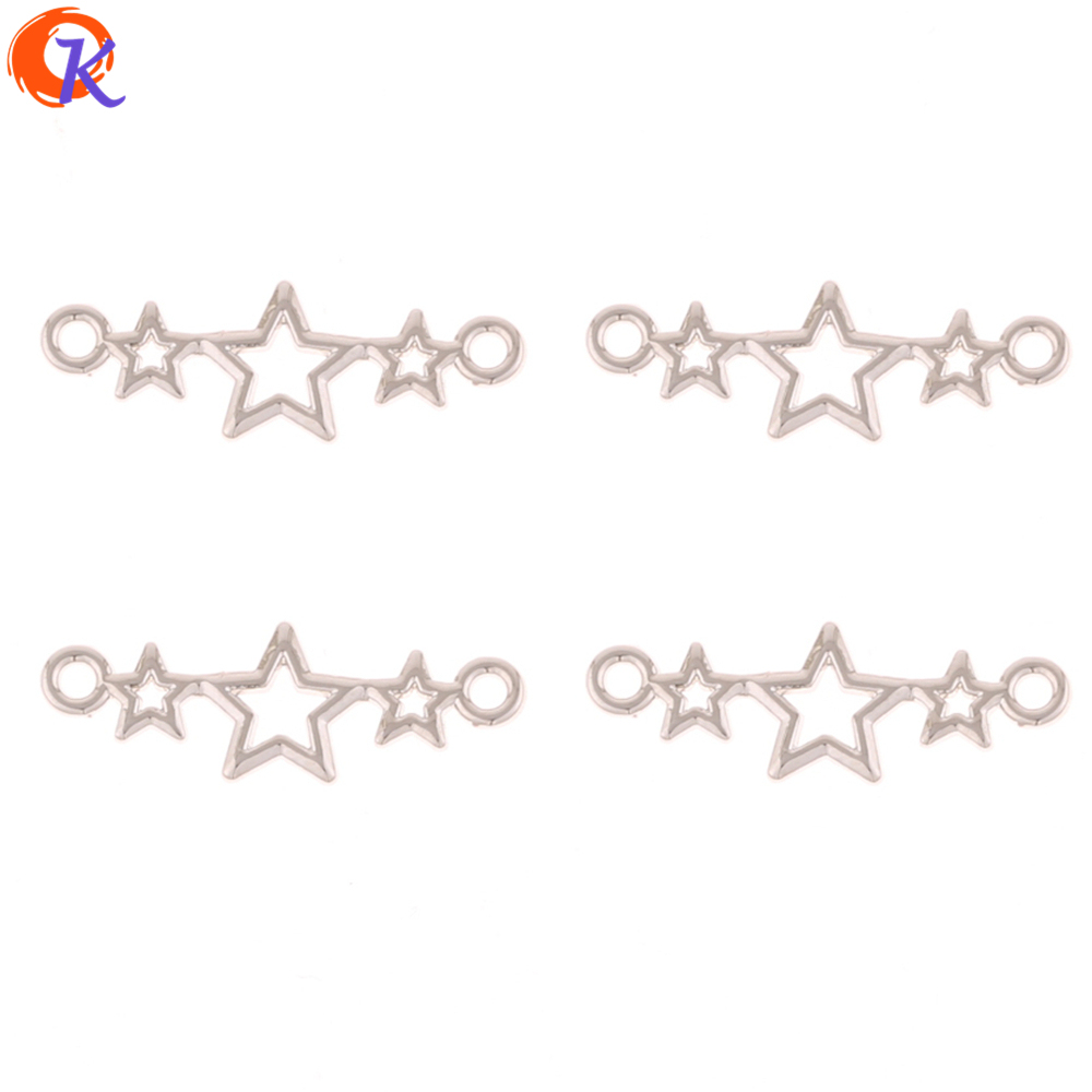 Cordial Design 100Pcs 9*25MM Jewelry Making/Earring Accessories/Star Shape/DIY Earring <font><b>Connectors</b></font>/Hand Made/Earring Findings image