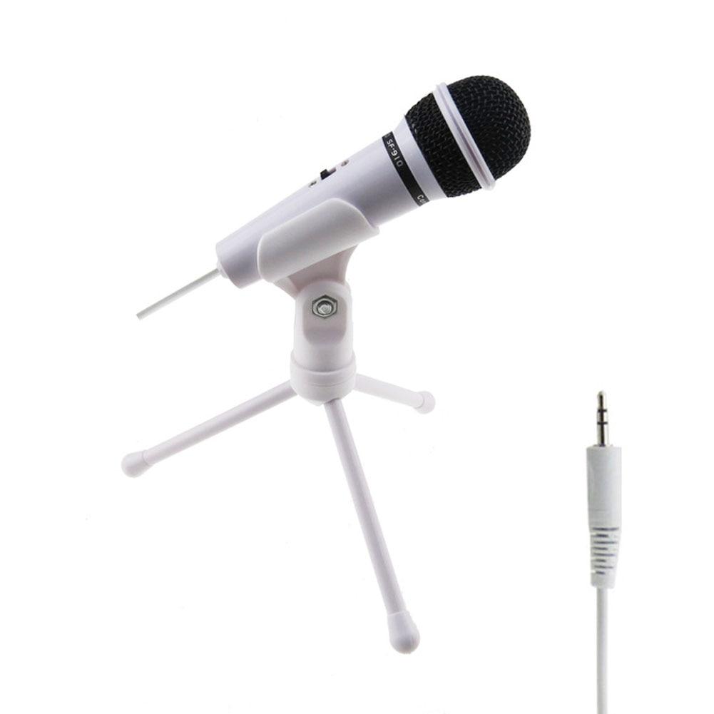 Новый высокое качество 3.5 мм проводной микрофон конденсаторный со штативом игровой Запись Микрофоны для ПК в онлайн-чате @ JH