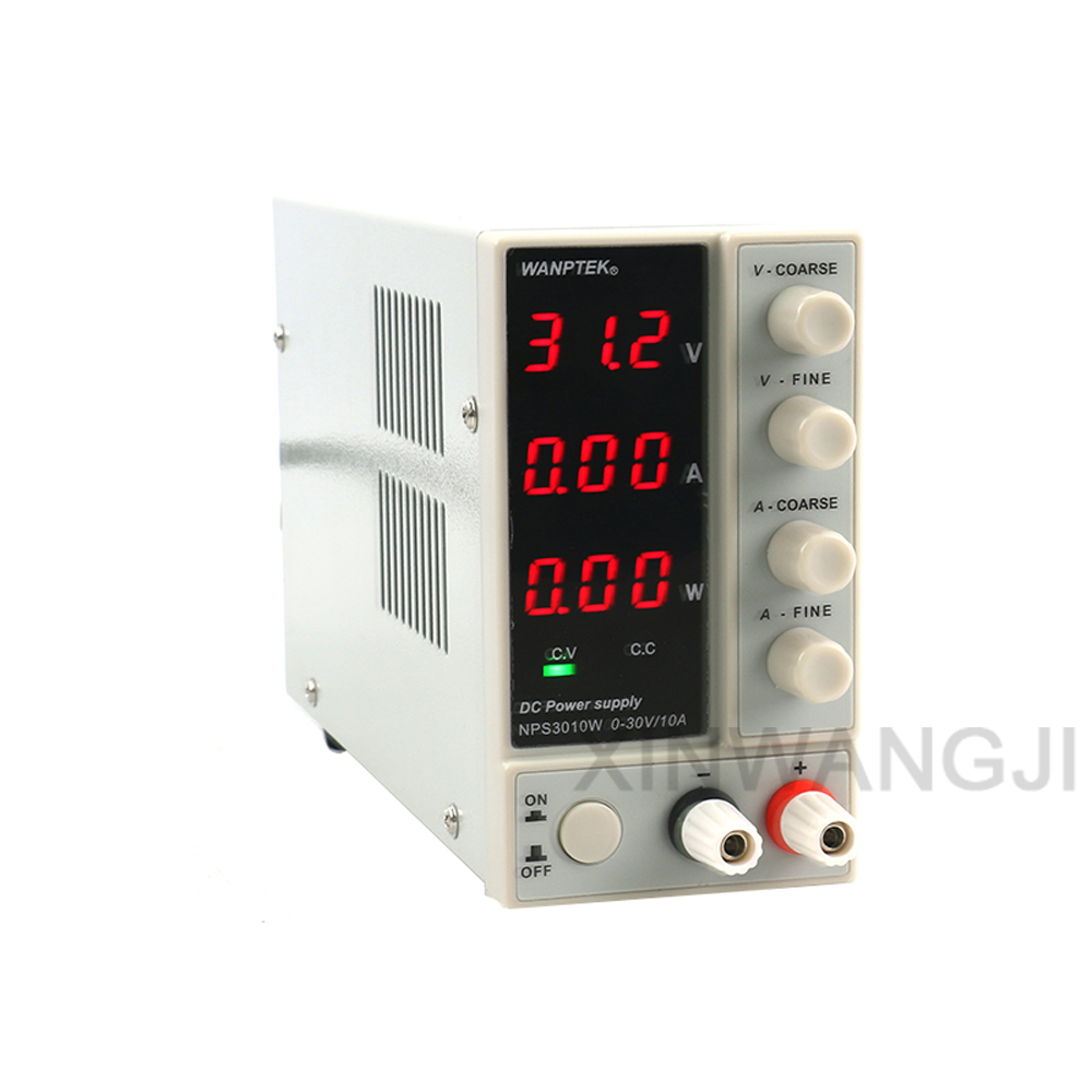 NPS3010W Adjustable Digital DC Power Supply 30V 10A With Voltage Current And Power Display Switch Laboratory Power SupplyNPS3010W Adjustable Digital DC Power Supply 30V 10A With Voltage Current And Power Display Switch Laboratory Power Supply