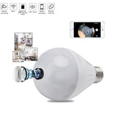 цена на VR Full HD 1080P Wifi Camera IP 360 Security Lamp Panoramic Bulb CCTV Video Surveillance Fisheye HD Night Vision Corridor Light