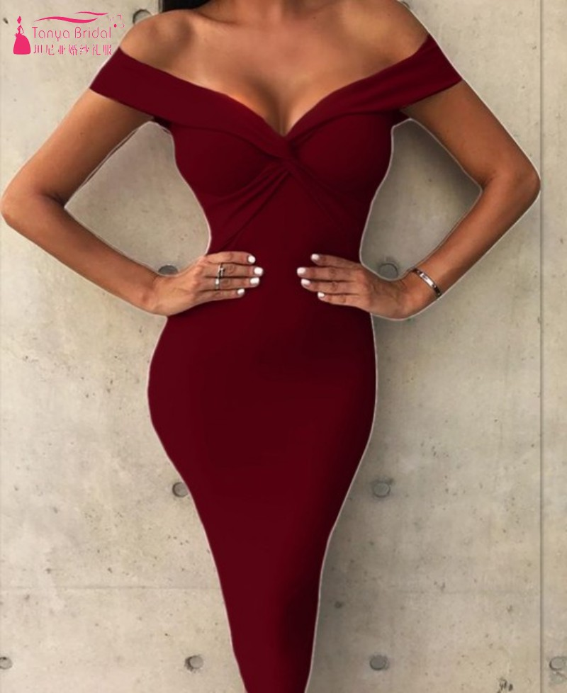 Simple Style Cheap   Cocktail     Dresses   2019 New Real   Dress   Woth Stretch Women Party Gown Homecoming   Dress   In Stock DQG780