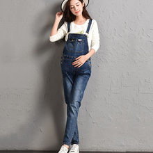 Denim Jeans de maternidad monos trajes pantalones para mujeres embarazadas  Braced mono embarazo maternidad tirantes uniformes ma. aa7d88f6b115