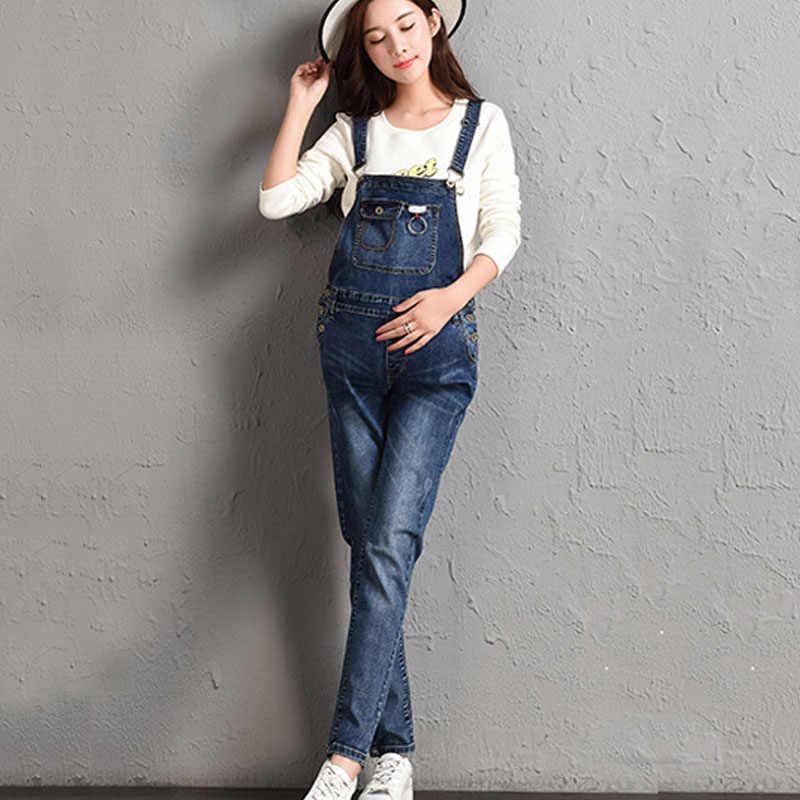 f98b7363009e5 Denim Jeans Maternity Overalls Straps Pants For Pregnant Women Braced  Jumpsuits Pregnancy Suspenders Maternity Uniforms Rompers