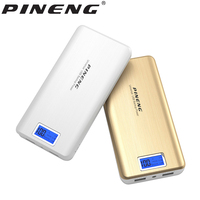 PINENG Power Bank 20000mAh LED External Battery Portable Mobile Fast Charger Dual USB Ouput Poverbank Portable Backup With Cable