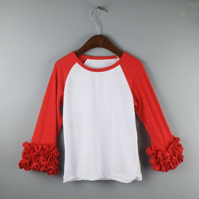 63ad2b304cd monogram ruffle T shirts hot pink girls raglan shirts dress long ruffle  outfits dress kids icing tunic shirts girl-in Tees from Mother   Kids on ...
