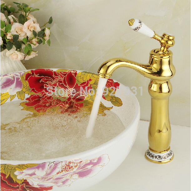 Fashion Design Countertop Tall Bathroom Basin Sink Faucet Deck Mounted Single Handle Basin Mixer Taps