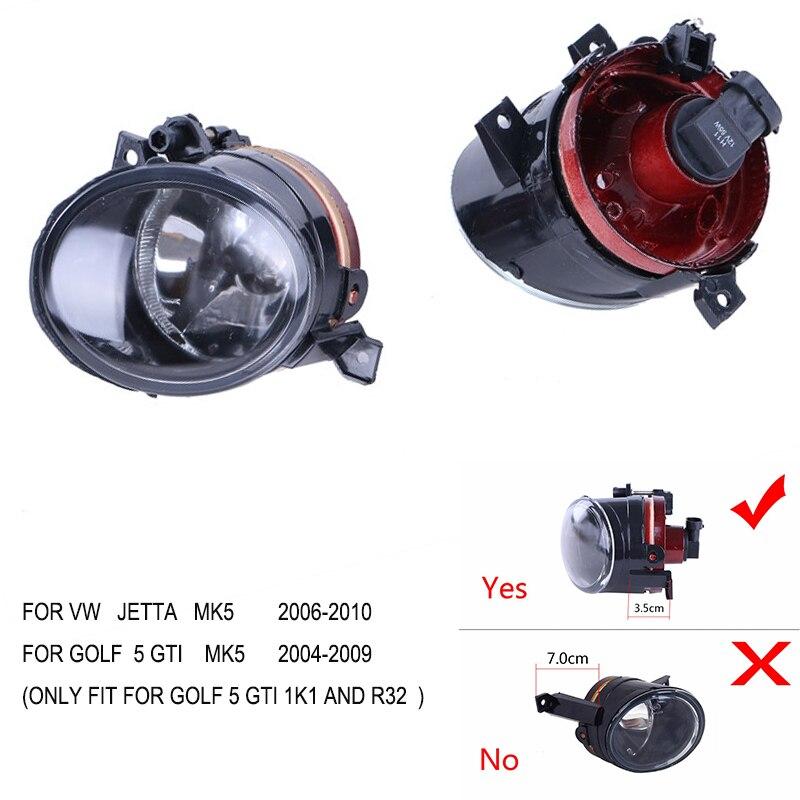 ФОТО Front bumper Convex lens 1Pair  H11 plug Fog Lights Bright Lamps For VW Jetta 5 Golf 5 GTI MK5 //