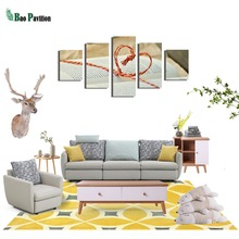 Love Books Canvas Wall Art Print Home Decor For Living Room Modern Decorative Pictures 5 Pieces Large Poster HD Prints Painting books for living