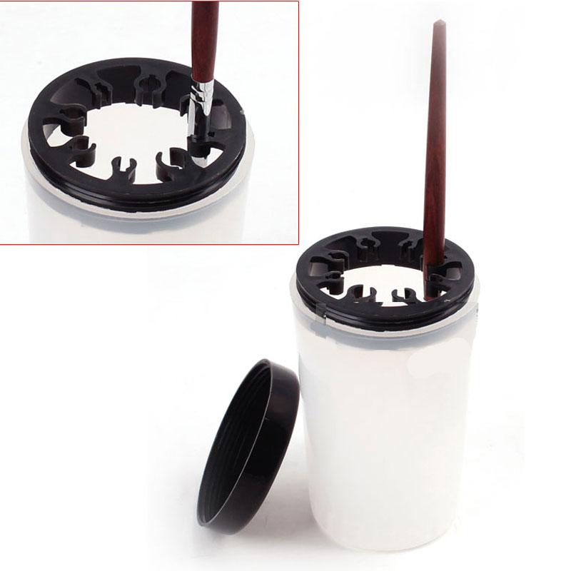 Professionelle Kunststoff Nagelbürsten Stift Reinigung Waschen Halter Cleanser Cup Bowl mit Kappe Maniküre Pediküre Werkzeug