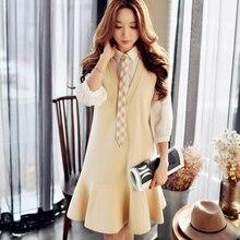 Dabuwawa girly blouse dress long sleeve dress