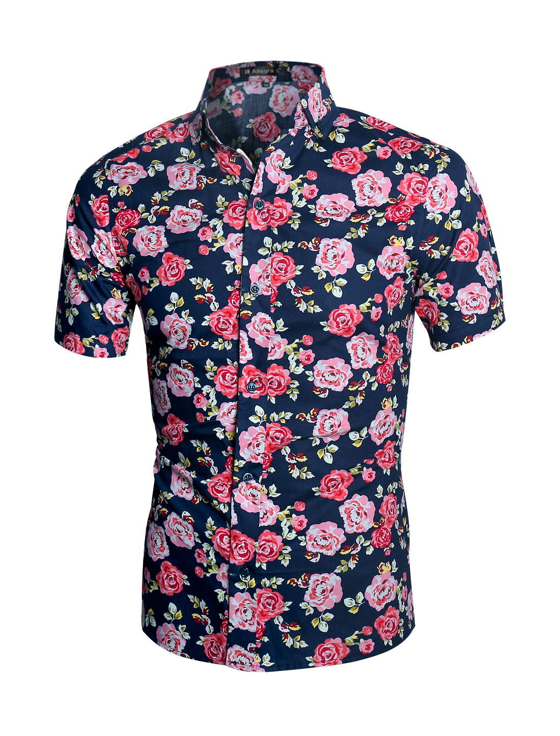 Popular Short Sleeve Floral Button Down Shirts Men-Buy Cheap Short ...