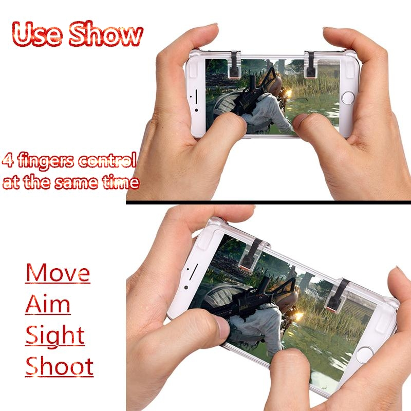 2pcs Game Control handle for PUBG CF Mobile Phone Shooting Games Controller Accessories   Controller Assist Tools