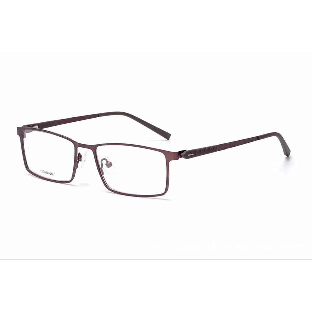 Business Fashion Full rim Ultralight Titanium Frame Custom Made Prescription Glasses Photochromic Grey Brown Myopia Near sighted in Men 39 s Prescription Glasses from Apparel Accessories