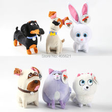 13-27CM The Secret Life Of Pets Cotton Movie Plush Toys Max Snowball Gidget Mel Chloe Buddy Animals Doll Stuffed Toys Baby Gift