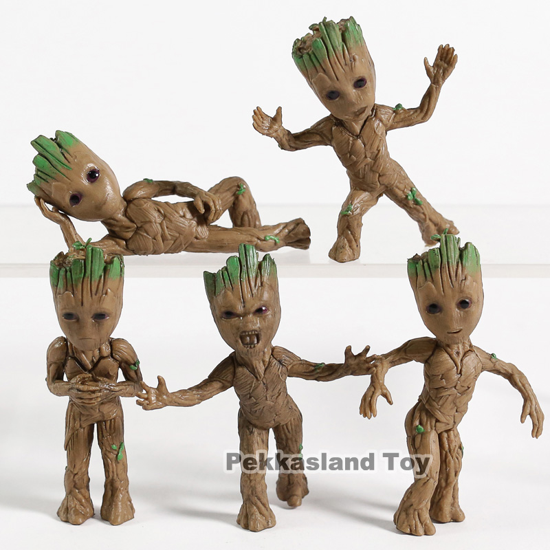 Tree Man Figure Toys Pendant Guardians of Galaxy Dancing Movie Figures Toys gift 5pcs/setTree Man Figure Toys Pendant Guardians of Galaxy Dancing Movie Figures Toys gift 5pcs/set